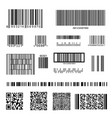 barcode and qr code set vector image vector image