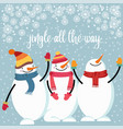 beautiful flat design christmas card with happy vector image vector image