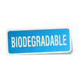 biodegradable square sticker on white vector image vector image