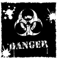 biohazard icon black and white vector image