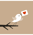 Bird of love vector image vector image
