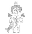 bizarre creature nude woman with wings vector image vector image