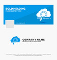 blue business logo template for cloud search vector image
