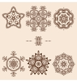 Brown Flower Pattern Pack vector image