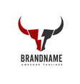 bull head power logo concept vector image