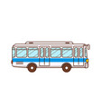 bus public transport urban vehicle vector image