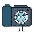 camera photographic kawaii character vector image