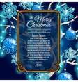 card with space for text and style christmas tree vector image vector image