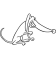 cartoon dog for coloring book vector image vector image