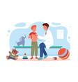 children visit pediatrician doctor in hospital vector image