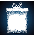 Christmas gift box snowflake design background vector image vector image