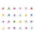 colorful sparkle stars glitter lights color vector image vector image