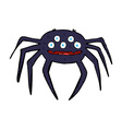 comic cartoon halloween spider vector image vector image