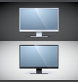 computer displays on black and white backgrounds vector image vector image