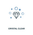 crystal clear icon creative two colors design vector image