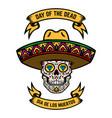 day dead dia de los muertos mexican sugar vector image vector image