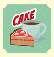 delicious sweet bakery vector image