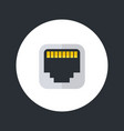 ethernet port icon flat style vector image