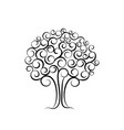 family tree for wedding invitation design vector image vector image