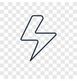 flash concept linear icon isolated on transparent vector image