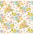 flower meadow hand drawn seamless pattern vector image vector image