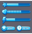 Game ice energy time progress bar vector image vector image