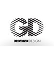 gd g d lines letter design with creative elegant vector image