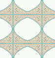 Geometric corner frame pattern ethnic tile vector image vector image