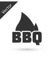 grey barbecue fire flame icon isolated on white vector image