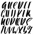 Hand drawn elegant calligraphy font modern brush