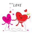 heart cute cartoon character vector image vector image