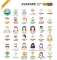 human diversity avatar icons vector image vector image