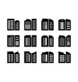 icons company and buildings set bank and office vector image vector image