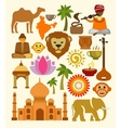 india icon set vector image vector image