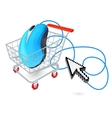 Internet shopping cart concept vector image