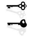 keys black vector image vector image