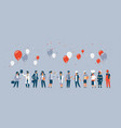 labor day people different occupations stand vector image vector image