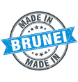 made in Brunei blue round vintage stamp vector image vector image