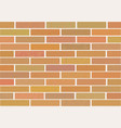 masonry of brown bricks different shades vector image