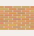 masonry of brown bricks different shades vector image vector image