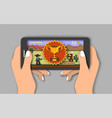 mobile games flat style design vector image