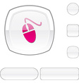 Mouse white button vector image vector image