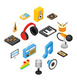 music isometric 3d icons vector image vector image