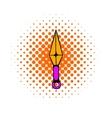 Ninja weapon kunai throwing knife icon vector image vector image