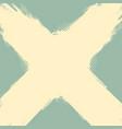 old grunge cross frame background vector image vector image