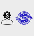 outline banker gear person icon and vector image vector image