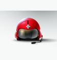 pilot jet helmet aviator vector image