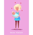Pixel funny mother character Isolated vector image vector image