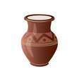 realistic clay pot vector image