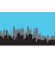 Reflection silhouette of the city vector image vector image